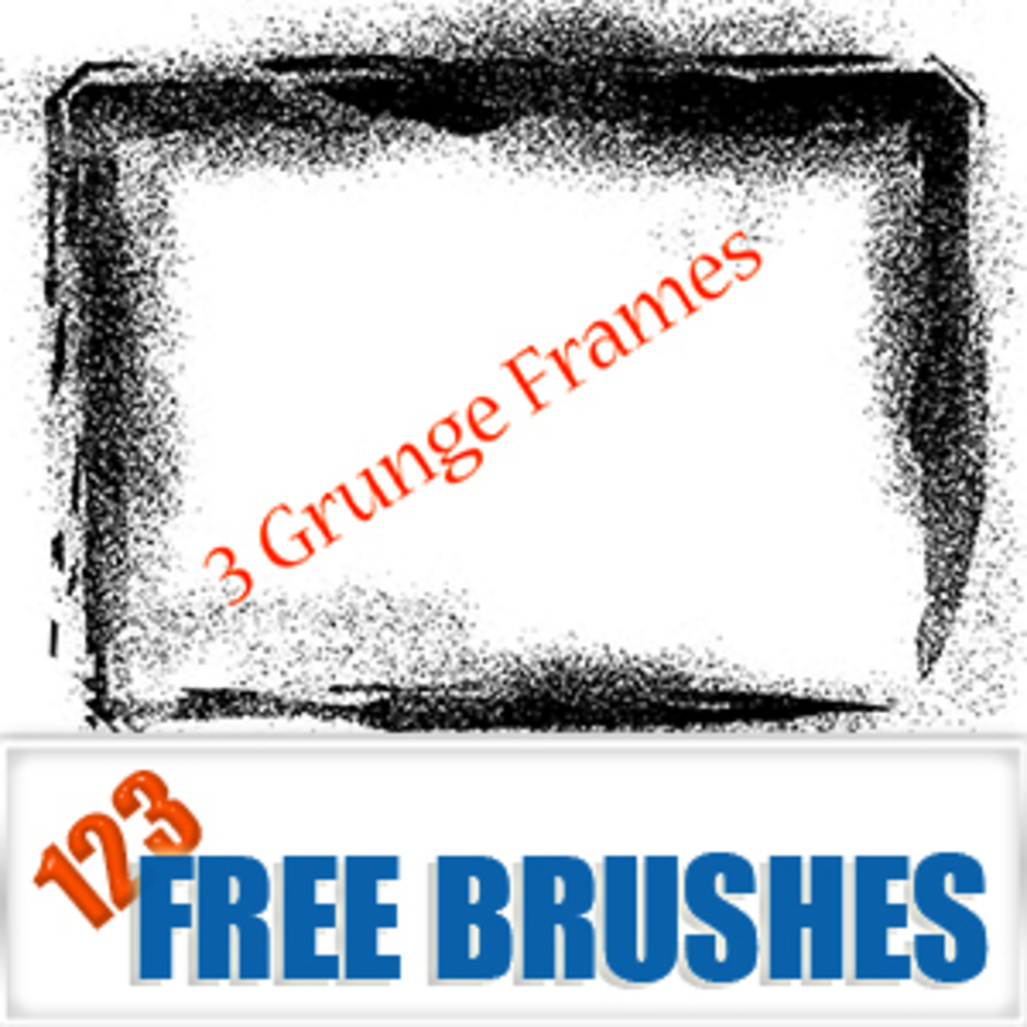 Grunge Frames Vector + Brush