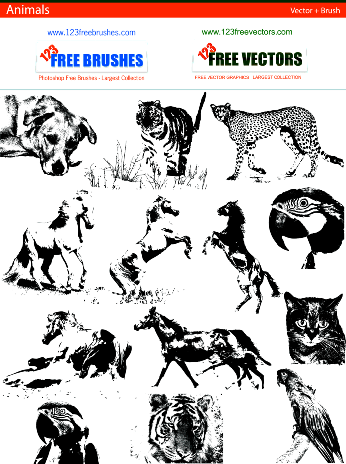 Animals Vector + Brush