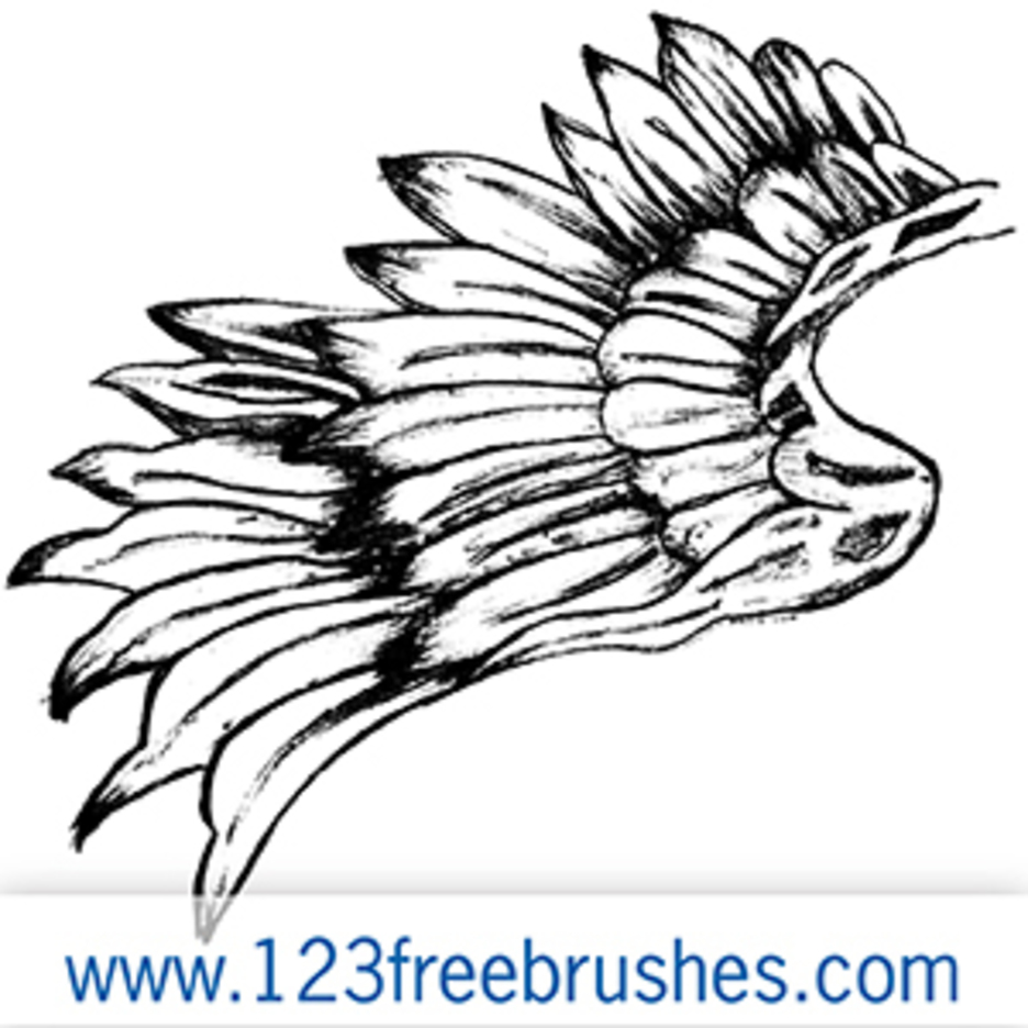 Hand Drawn Wings Vector + Brush