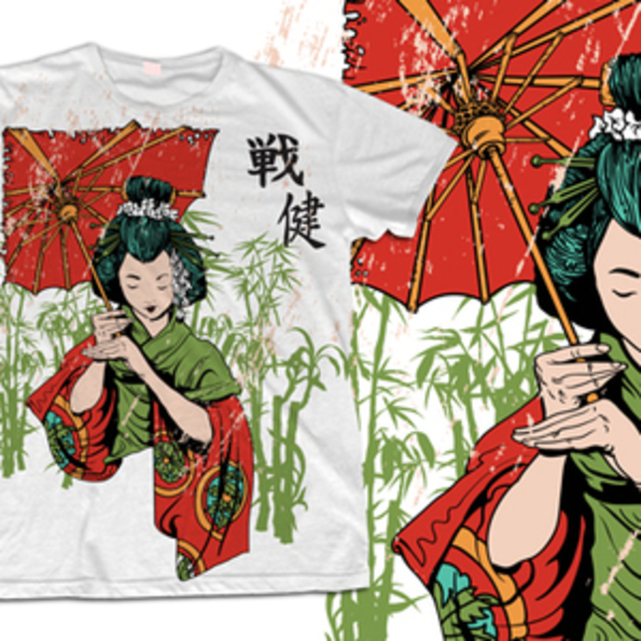 Geisha T-shirt Design