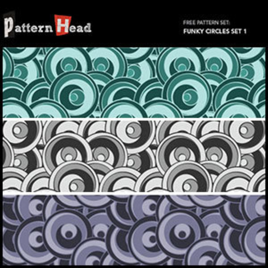 Free Funky Circles Vector Patterns