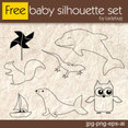 Baby Silhouette Stamp Set