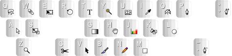 Illustrator Shortcuts Stickerset