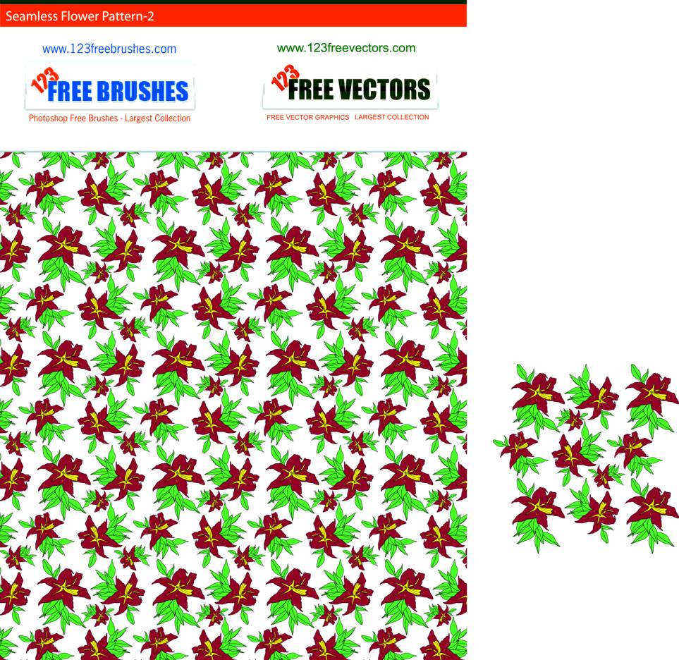 Seamless Flower Pattern-2