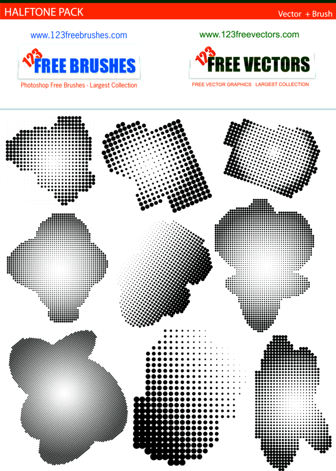 Halftone Free Pack