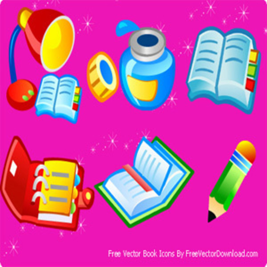 Free Vector Book Icons