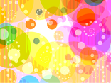 Abstract Colorful Circles Background 2