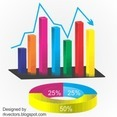 Vector Business Graph Rounded Designs
