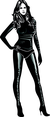 Girl In Black Leather Vector
