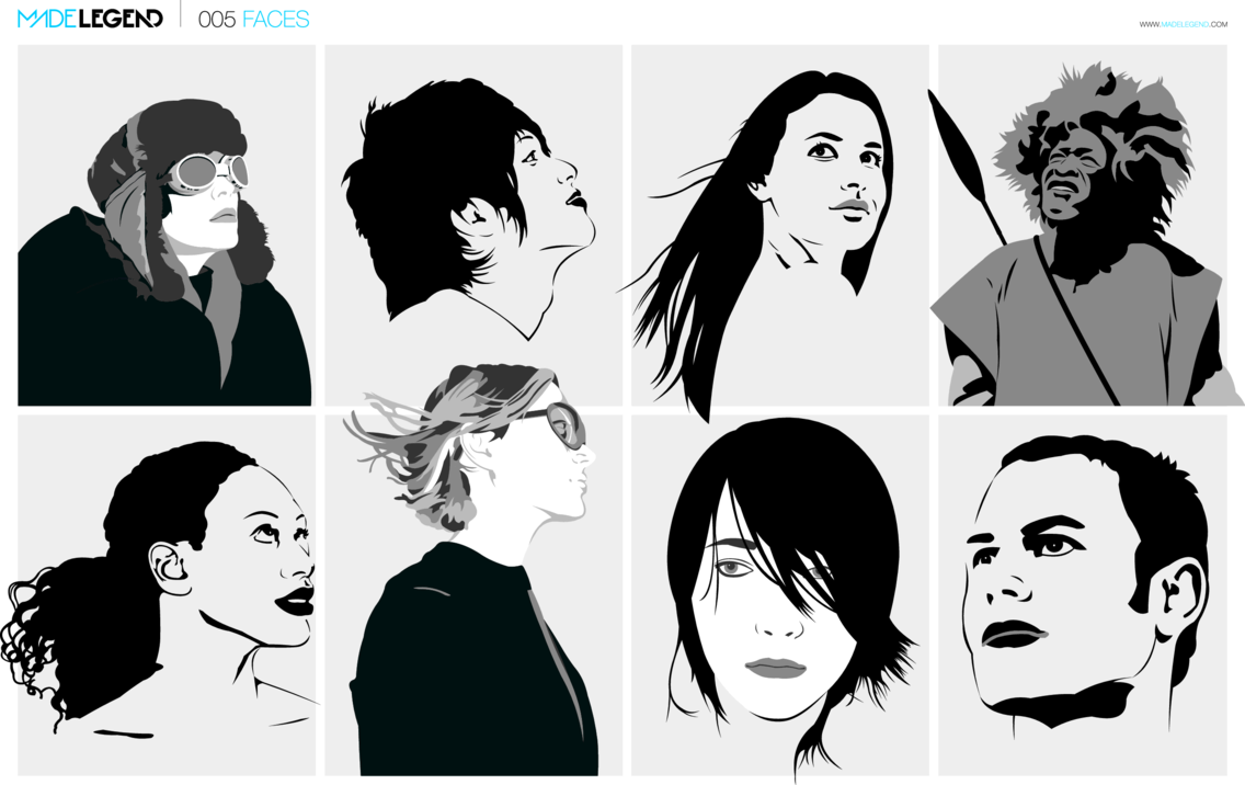 Faces Vector Pack | Next Post Prev Post