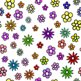 Free Floral Colorful Pattern