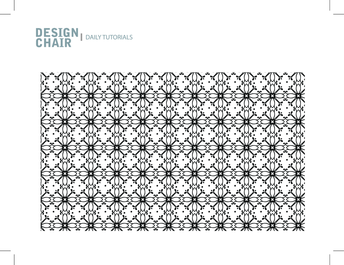 A Decorative Radial Seamless Vector Pattern