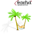 Palms With Hammock Free Vector