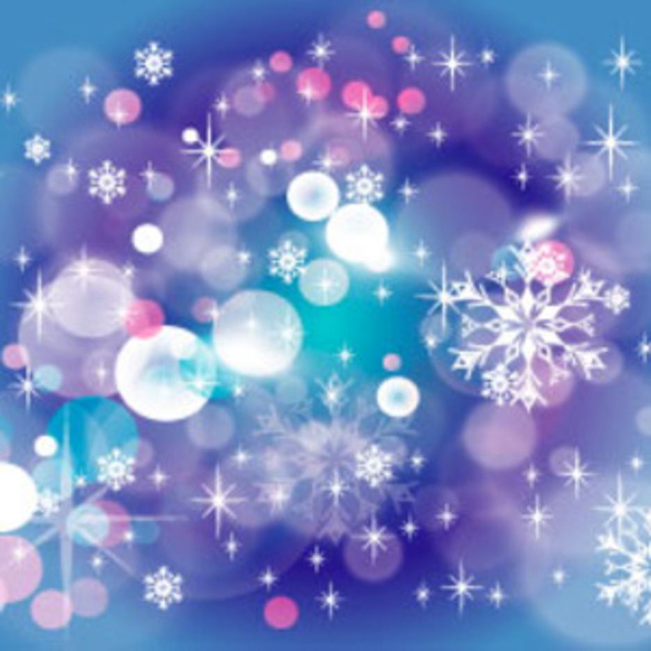 Winter Blue Stars Background
