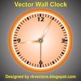 Vector Wall Clock Design