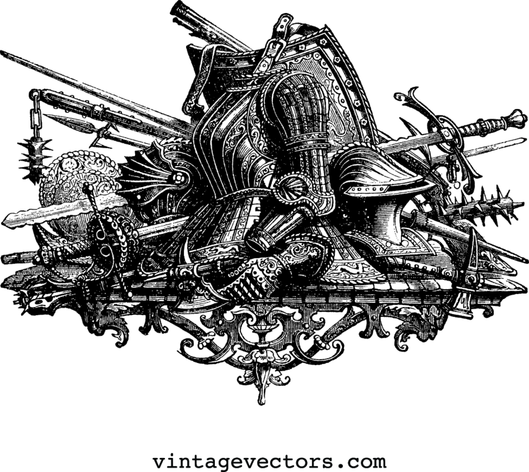 Medieval Armor & Weapons Graphic