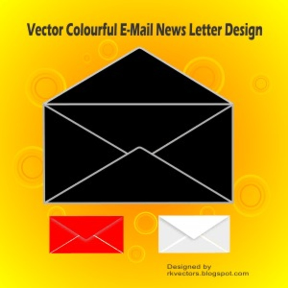 Vector Colourful E-Mail News Letter Design