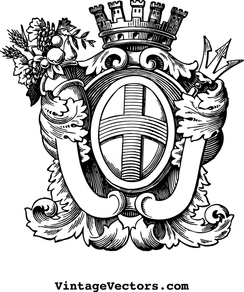 Heraldry Crest Emblem With Banners