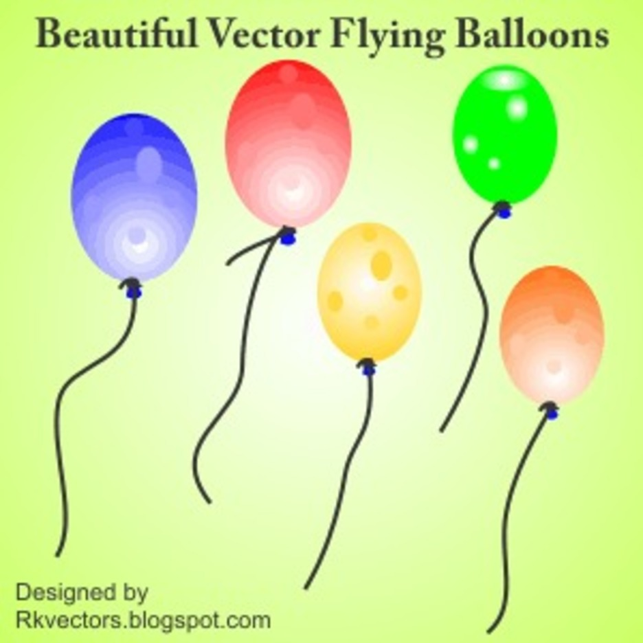 Beautiful Vactor Flying Balloons