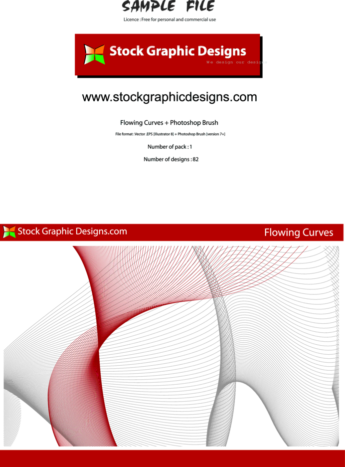 Flowing Curves Vector & Brush