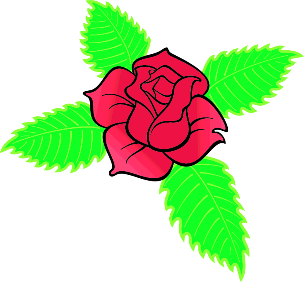 Rose Cross Vector