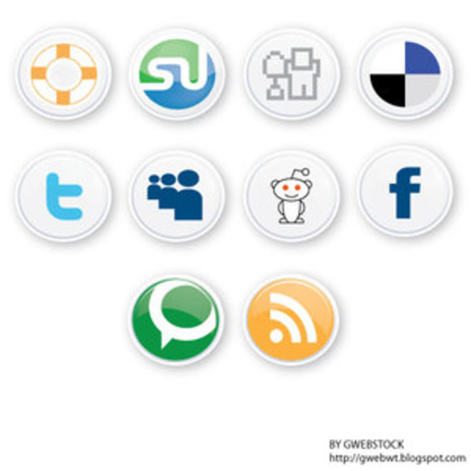Social Button Vectors