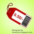 Beautiful Vector Red Price Tag