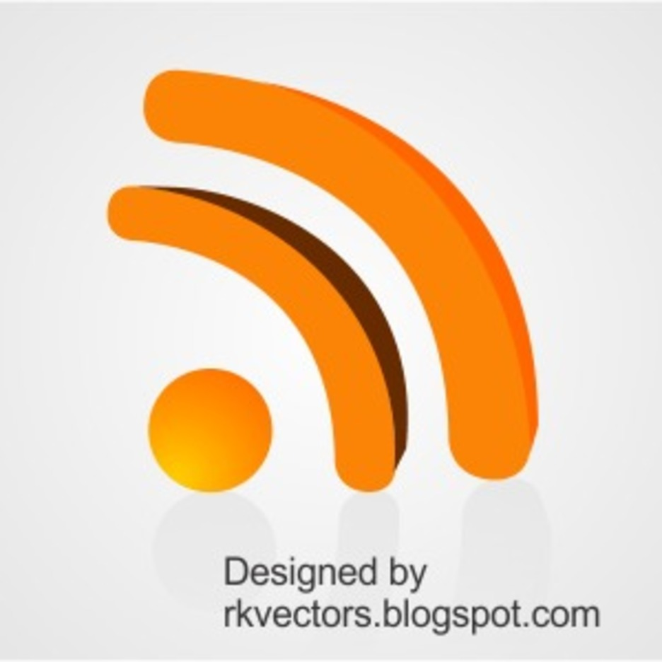 Vector 3D Rss Feed Icon