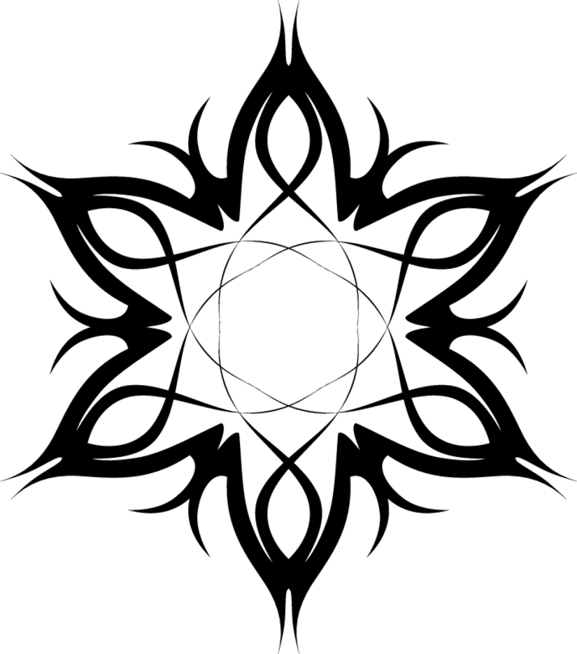 Tribal Tattoo Vector Flower