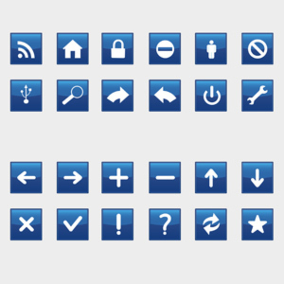 Blue Icons