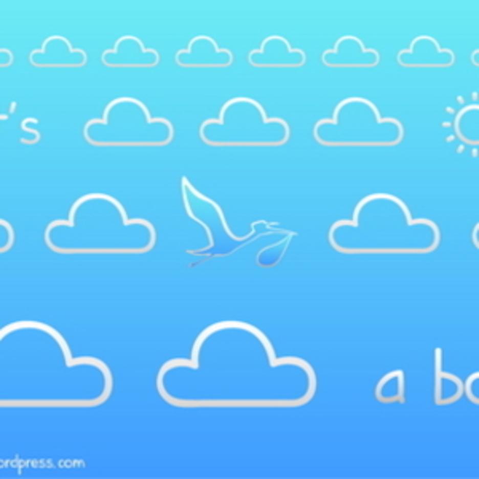 """""""It's A Boy"""" Birth Announcement Card"""