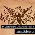 14 Vector Floral Ornaments