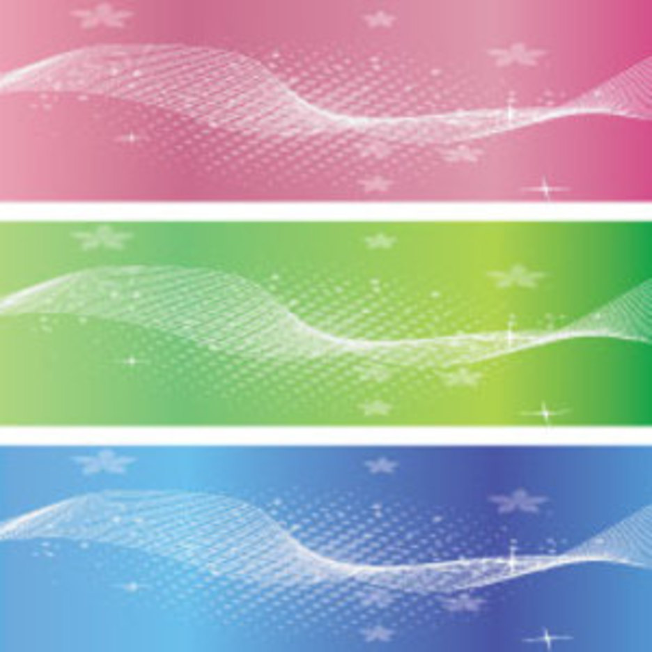 Three Banner Vector