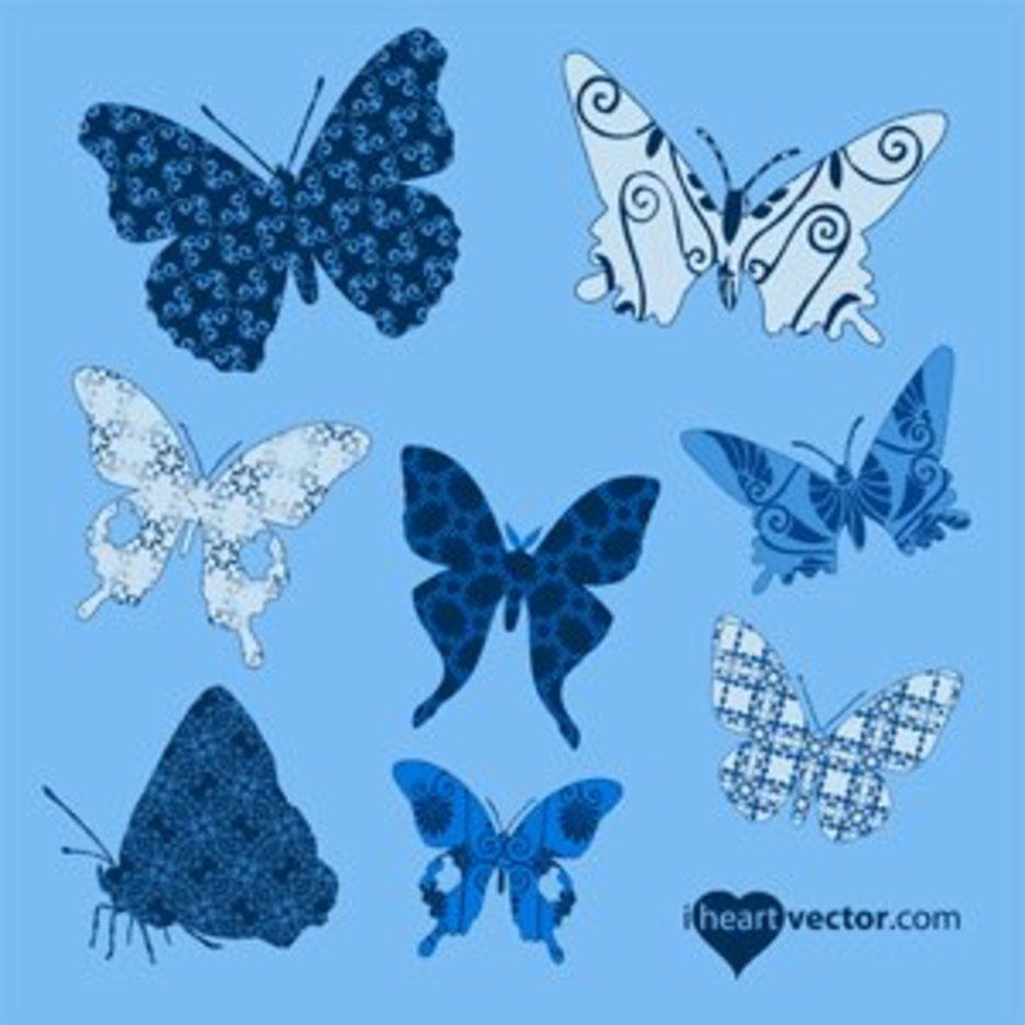 Butterflies Patterns Vector Pack