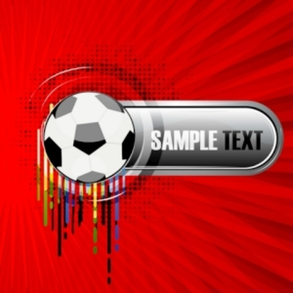 Abstract Vector Background With Football
