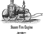 Steam Fire Engine Illustration - 1800s