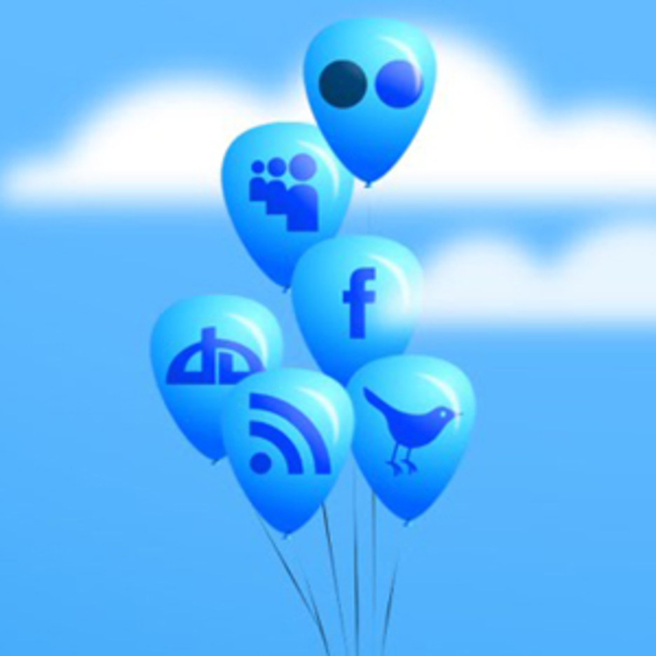 Free Balloon Social Media Icon Set