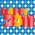 Happy 2011 3D Vector Typography Design