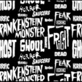 A Seamless Typography Horror Pattern