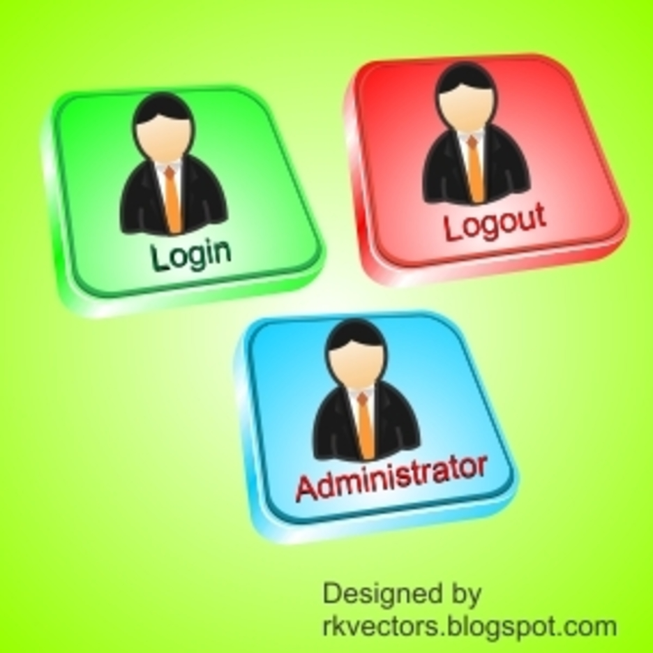 Vector Login, Logout, Administrator Button