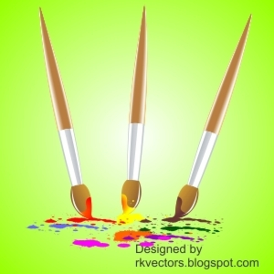 Vector Colourful Paint Brush