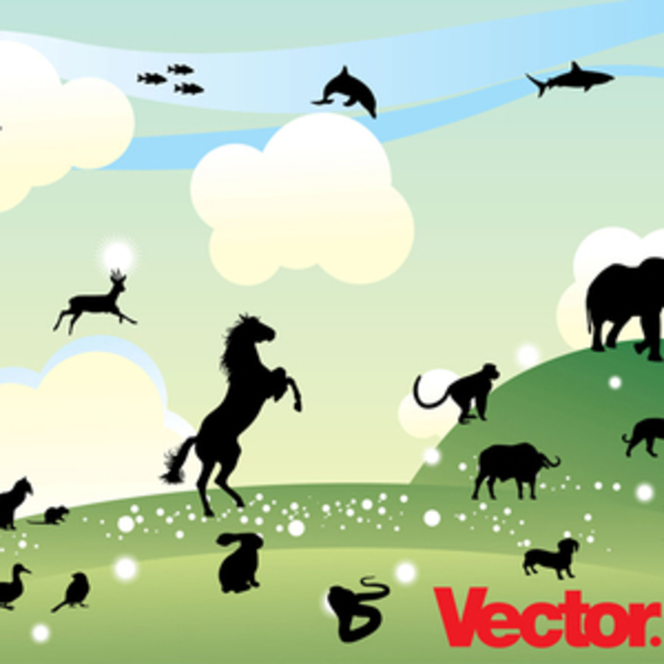 Animal Silhouette Illustration Collection