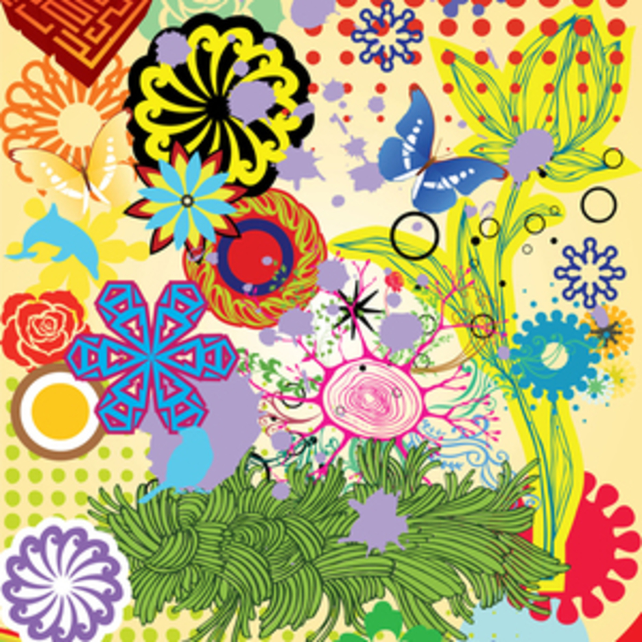 Spring And Summer Nature Vector Art Elements