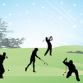 Vector Art Golf Silhouettes