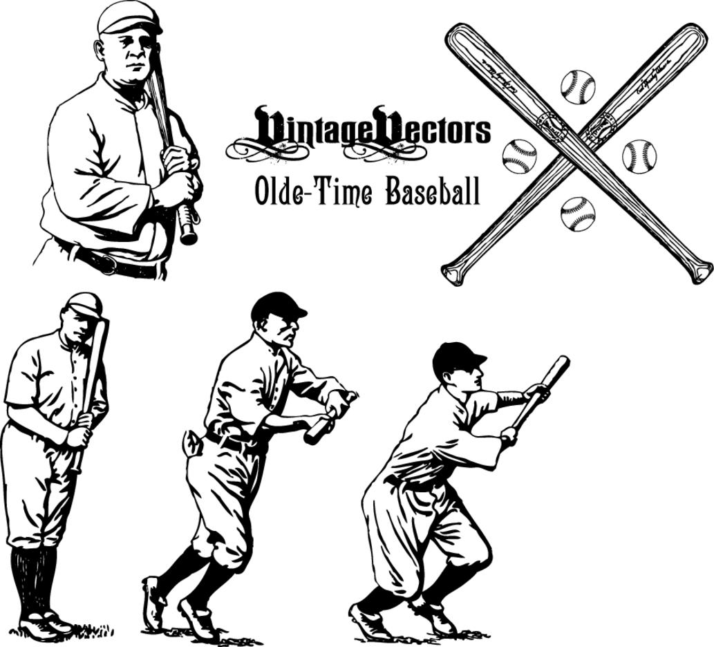 Olde-Time Baseball Vectors