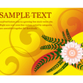 Flower Greeting Card Vector