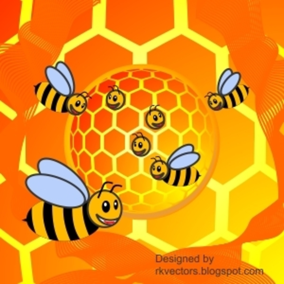 Bee Vector House, Hut, Home Background Designs