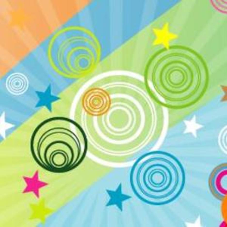Retro Stars Vector Art Graphic