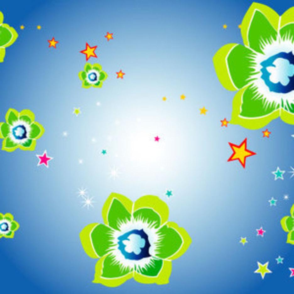 Floral Blue Vector Graphique