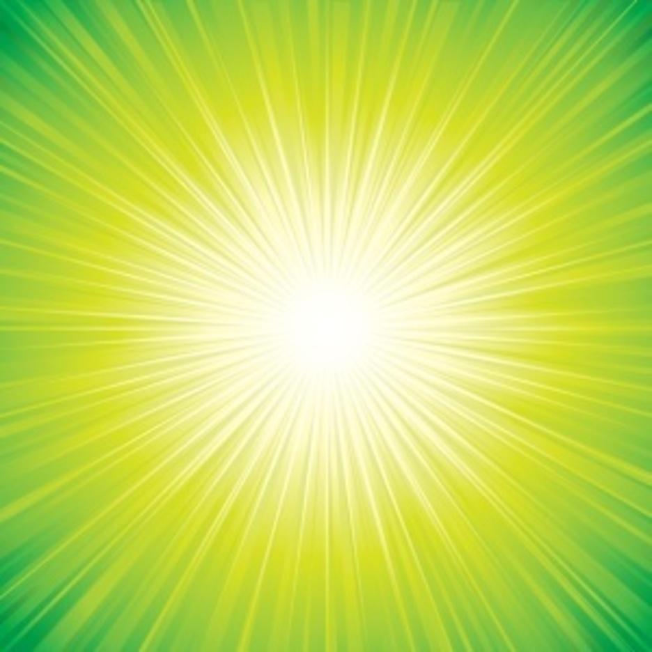 Green Sunbeam Background